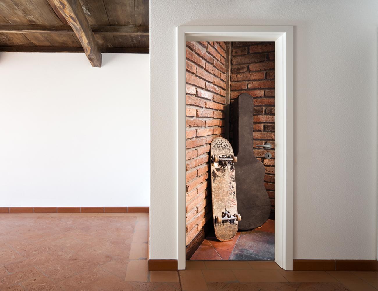 poster porte trompe oeil. Black Bedroom Furniture Sets. Home Design Ideas