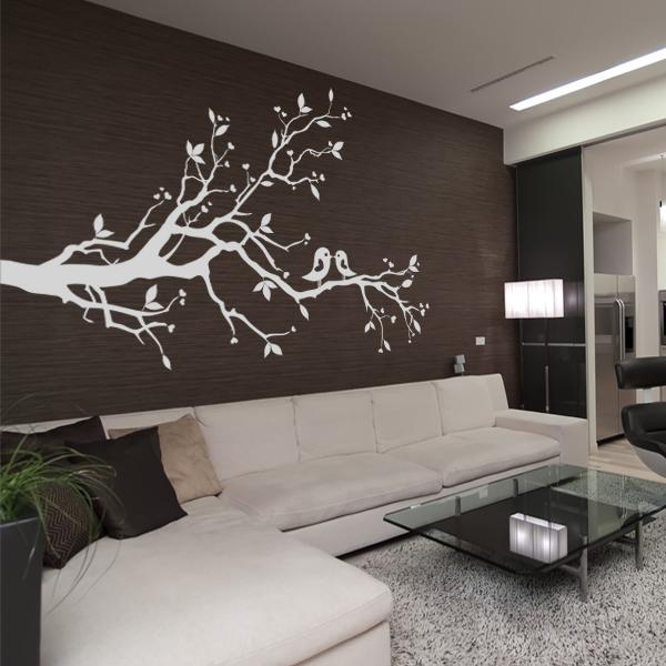 sticker arbre oiseaux pas cher. Black Bedroom Furniture Sets. Home Design Ideas