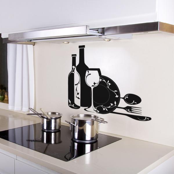 sticker cuisine 2 pas cher. Black Bedroom Furniture Sets. Home Design Ideas