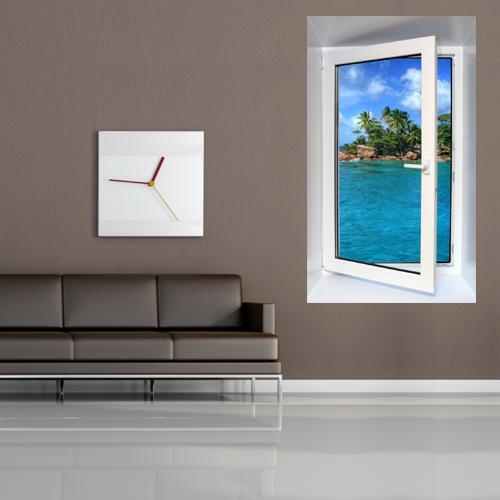 sticker fentre trompe l 39 oeil 59 pas cher. Black Bedroom Furniture Sets. Home Design Ideas