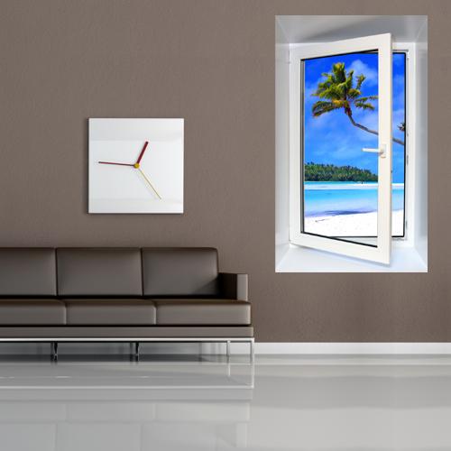 sticker fentre trompe l 39 oeil 61 pas cher. Black Bedroom Furniture Sets. Home Design Ideas