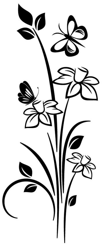Sticker fleur papillon 1 pas cher - Papillon fleur ...
