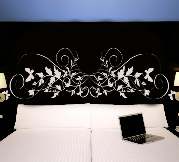 sticker tte de lit pas cher. Black Bedroom Furniture Sets. Home Design Ideas