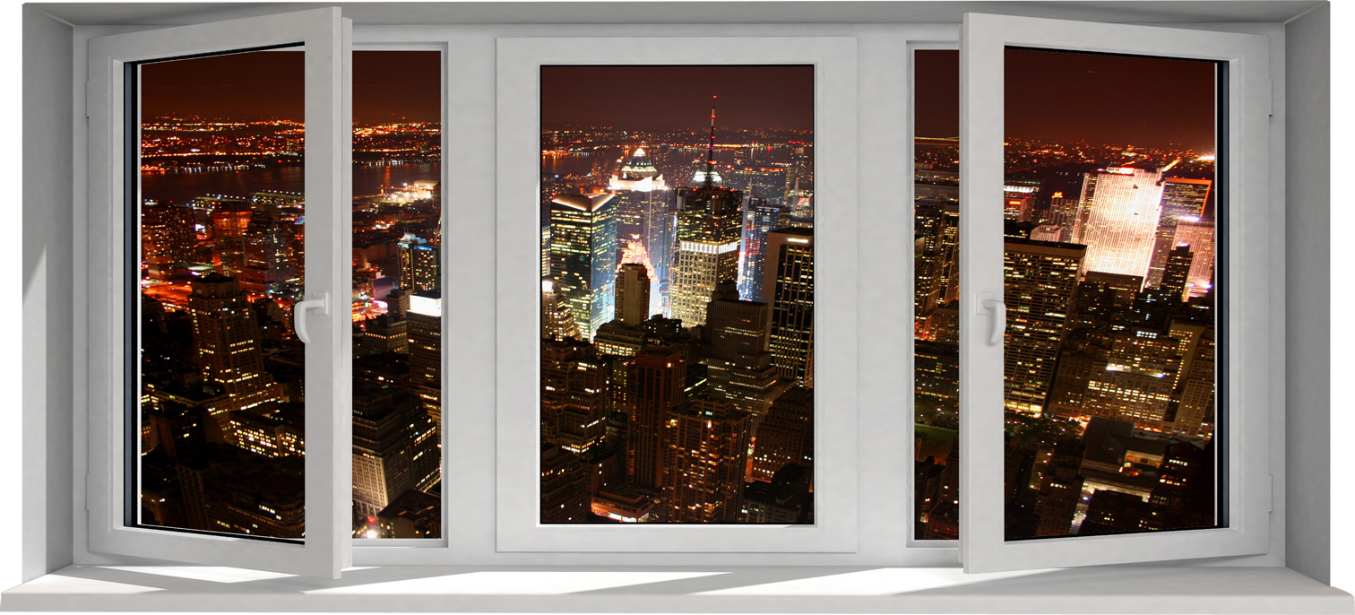 Stickers fen tre trompe l 39 oeil pas cher for Decoration porte new york