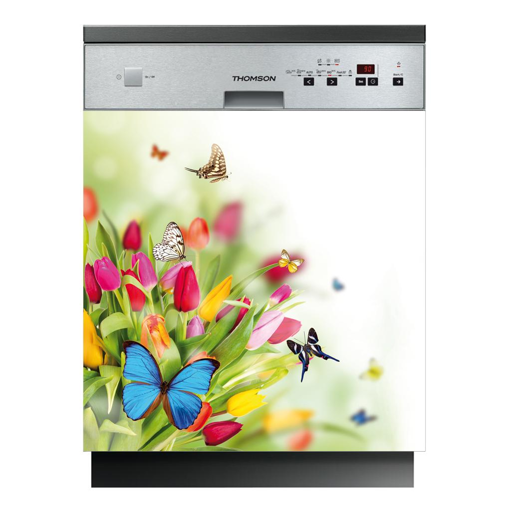 Stickers lave vaisselle papillons pas cher for Lave vaisselle pas cher