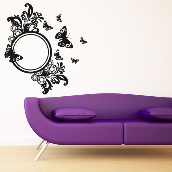 stickers miroir papillons pas cher. Black Bedroom Furniture Sets. Home Design Ideas