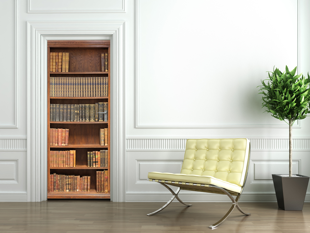 stickers porte biblioth que pas cher. Black Bedroom Furniture Sets. Home Design Ideas