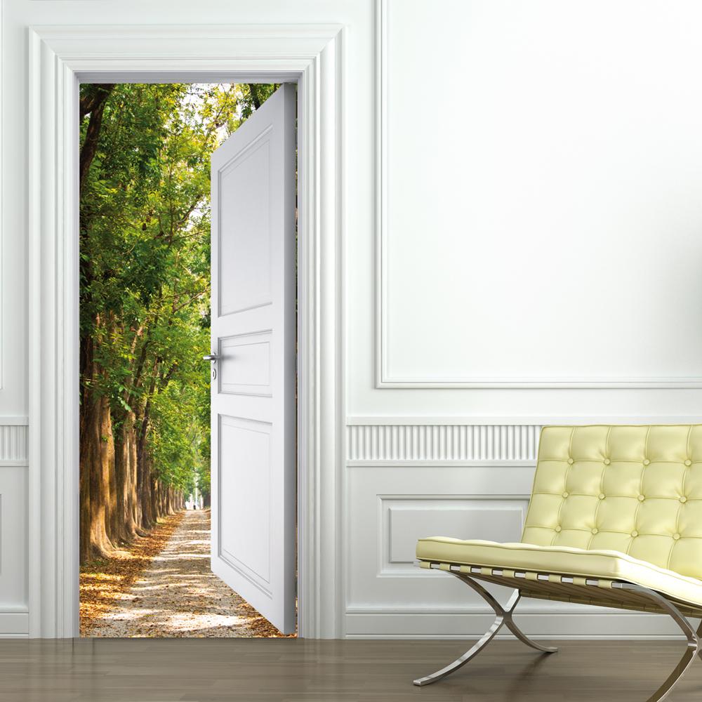 stickers porte chemin pas cher. Black Bedroom Furniture Sets. Home Design Ideas