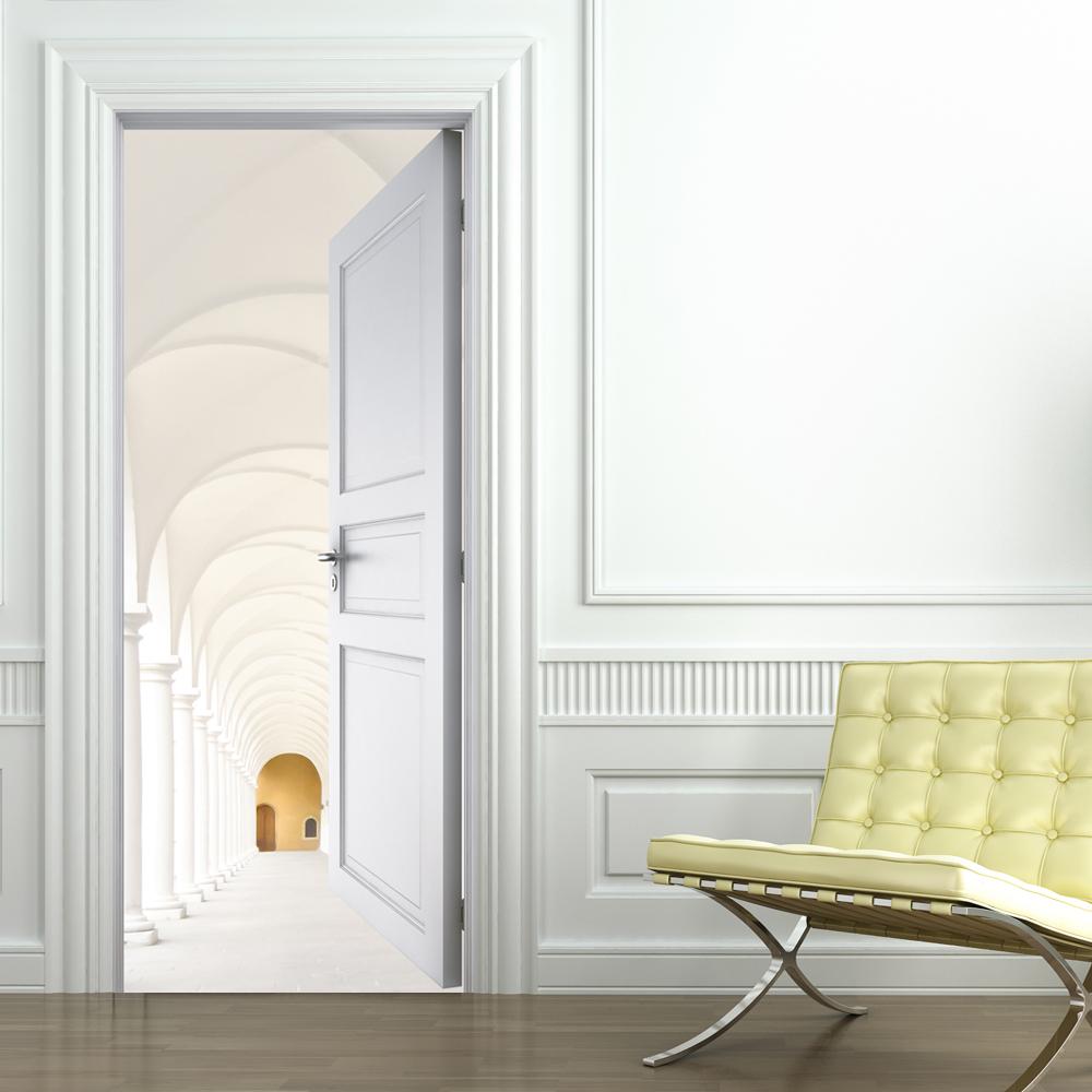 stickers porte trompe l 39 oeil couloir pas cher. Black Bedroom Furniture Sets. Home Design Ideas
